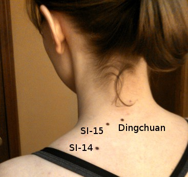 Some acupressure points for tight neck & shoulders.