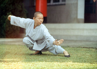A practitioner of taijiquan, developing better body awareness.