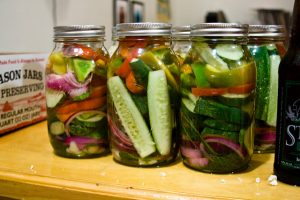 Pickles, which are fermented cucumbers