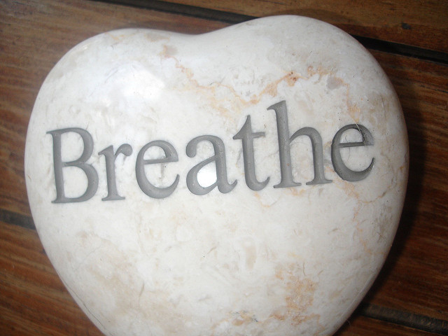 A stone reminder to breathe.
