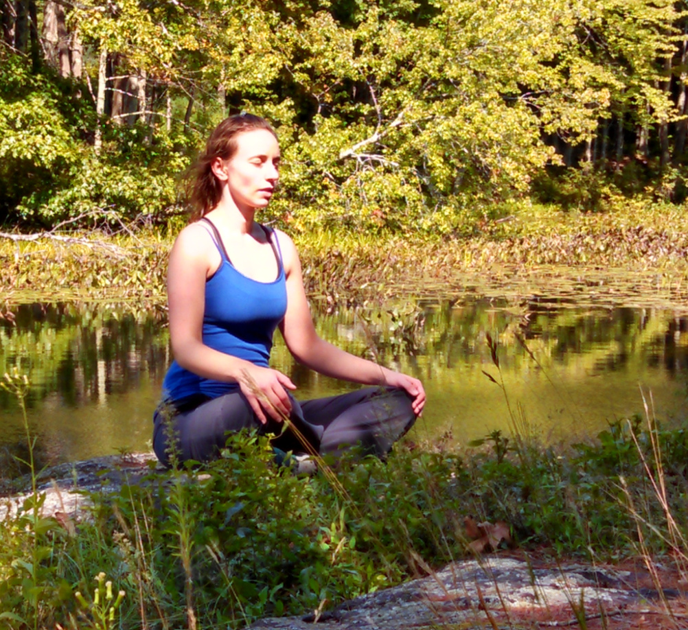 Meditation in the woods.